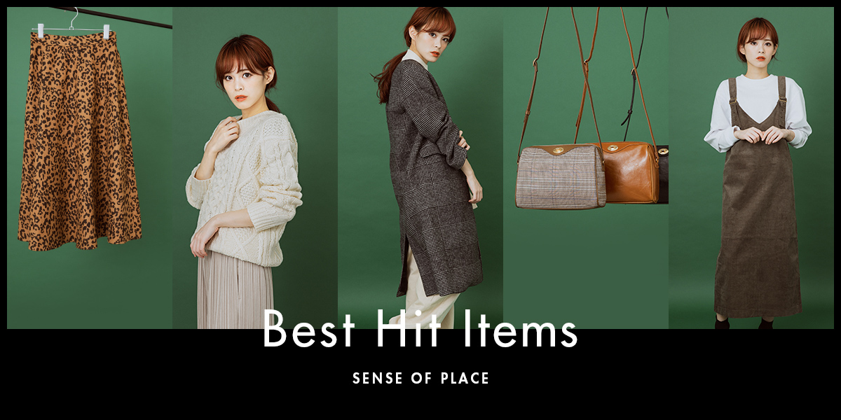 SENSE OF PLACE WOMEN BEST HIT ITEMS