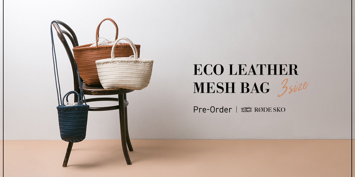 ECO LEATHER MESH BAG 3size Pre-Order|RODE SKO