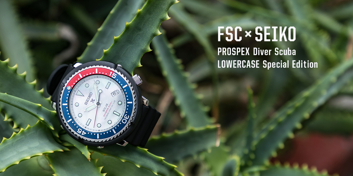 URBAN RESEARCH FSC × SEIKO PROSPEX Diver Scuba LOWERCASE Special Edition