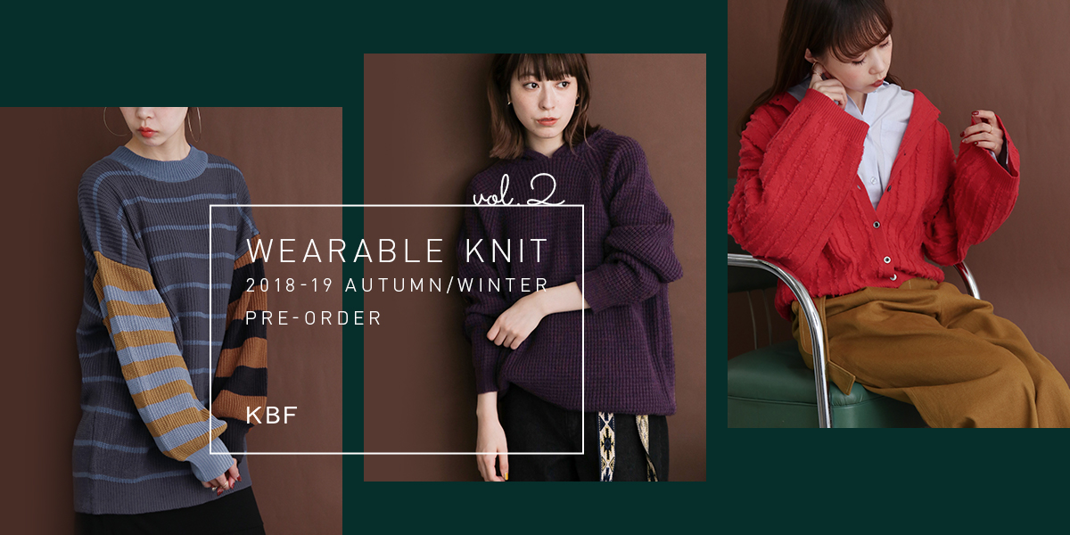 KBF WEARABLE KNIT vol.2 PRE-ORDER