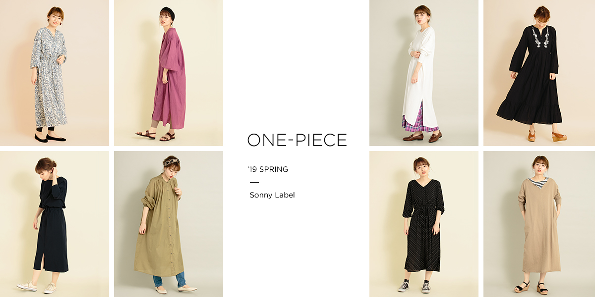 Sonny Label ONE-PIECE '19 SPRING