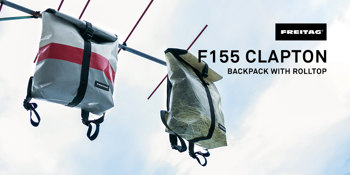 FREITAG F155 CLAPTON BACKPACK WITH ROLLTOP