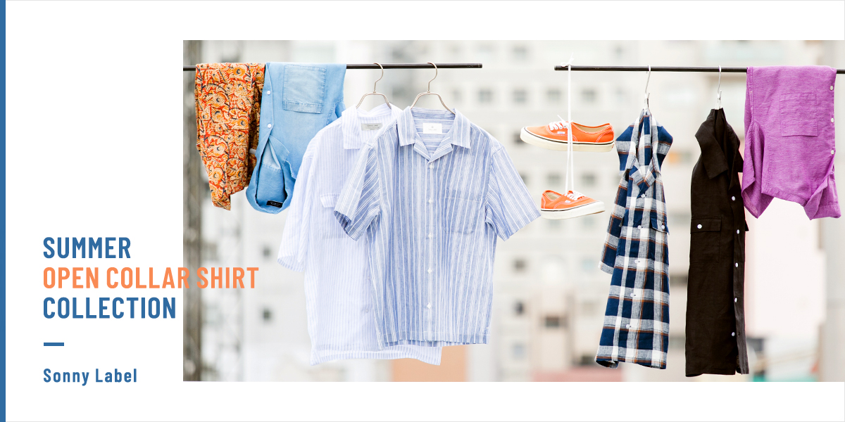 Sonny Label SUMMER OPEN COLLAR SHIRT COLLECTION