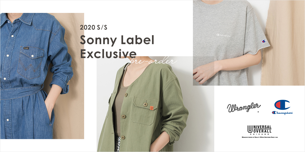 Sonny Label 2020S/S Exclusive pre-order