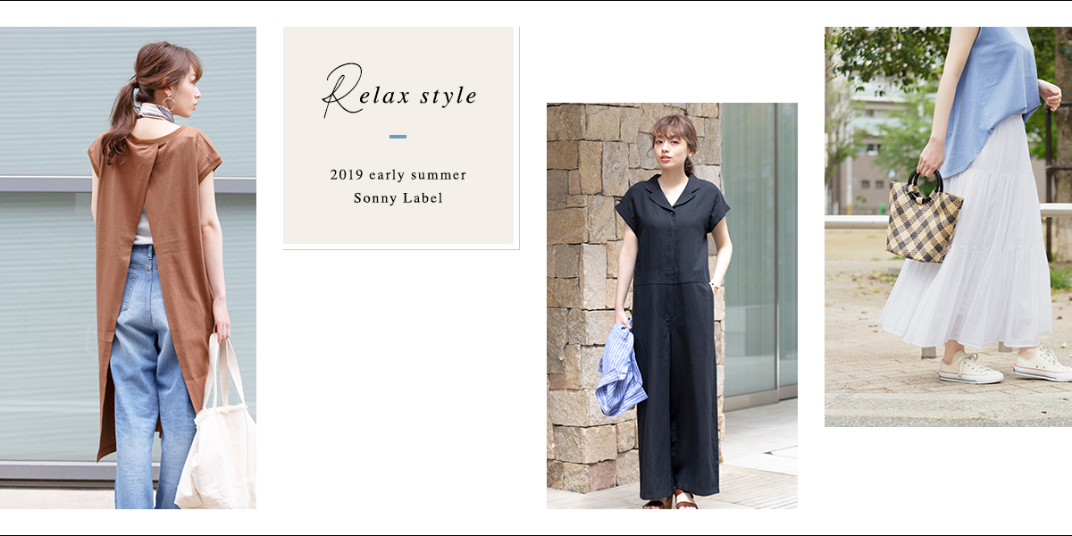 Sonny Label Relax style 2019 early summer