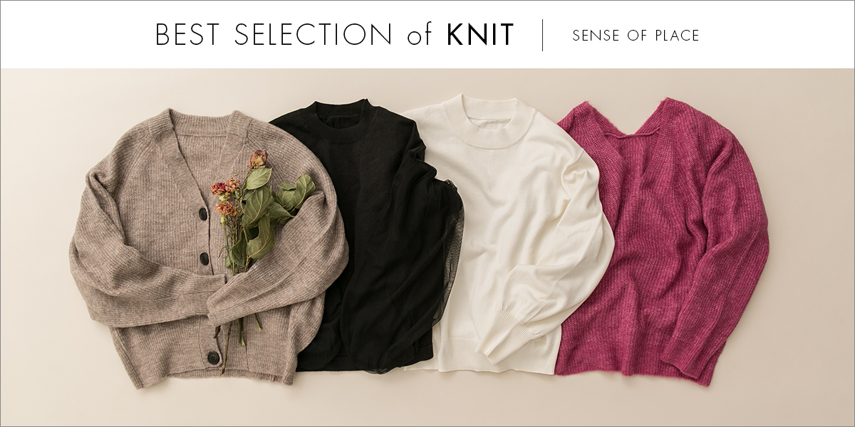 SENSE OF PLACE best selection of knit