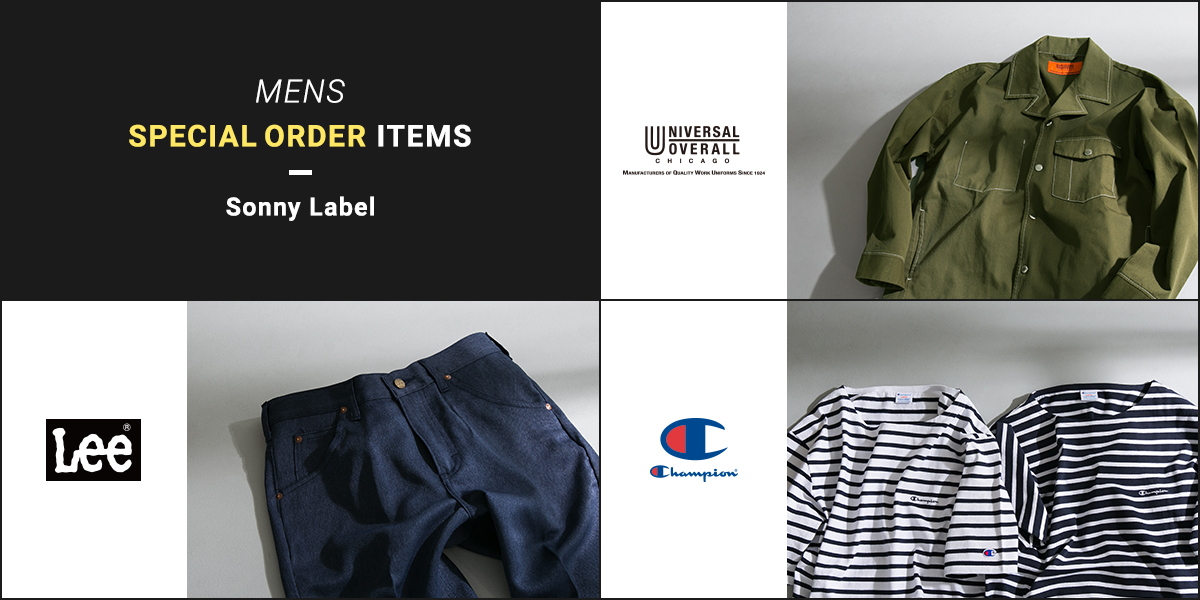 Sonny Label MENS SPECIAL ORDER ITEMS