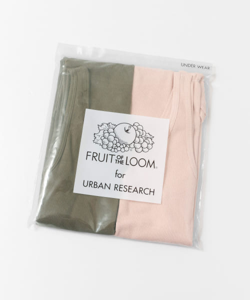 [URBAN RESEARCH][FRUIT OF THE LOOM×URBAN RESEARCH 2Pリブタンクトップ]