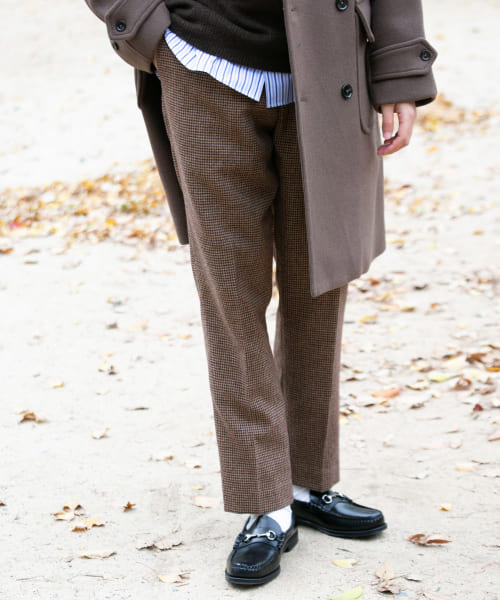 [URBAN RESEARCH][尾州WOOL CHECK TROUSER]