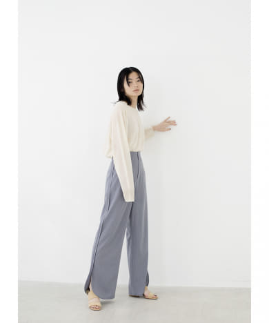 PIPING SLIT PANTS