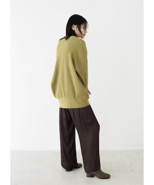 [LAATO][V-NECK LOOSE KNIT]