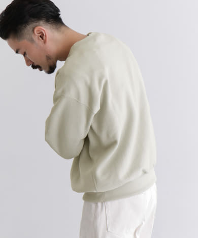 AURALEE POLYESTER SWEAT PULLOVER