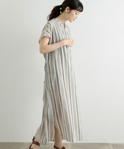 [かぐれ][Le GLAZIK COTTON WASHI ONE-PIECE]