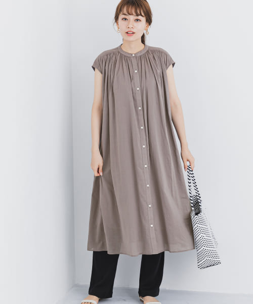 [Sonny Label][フレンチスリーブギャザーワンピース]