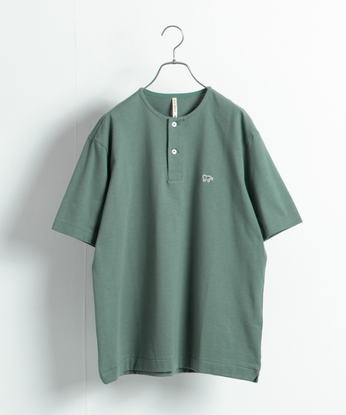 [URBAN RESEARCH][【別注】Scye×URBAN RESEARCH Henley Neck Tシャツ]
