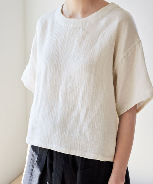 [URBAN RESEARCH][URBAN RESEARCH×UCHINO マシュマロガーゼWOMENS S/S TOPS]