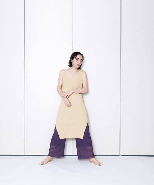 [LAATO][LAYERED KNIT ONE-PIECE]