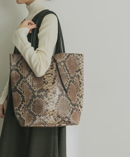 [URBAN RESEARCH][AULENTTI SNAKE TOTE]