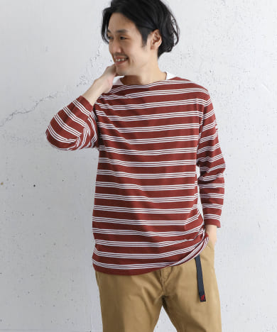 ORCIVAL 40/2 STRIPE ボートネックカットソー