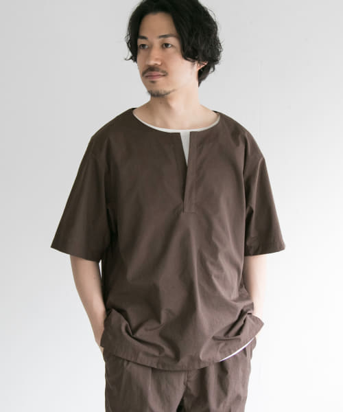 [URBAN RESEARCH][ダイナモス OPEN KEY NECK T-SHIRTS]