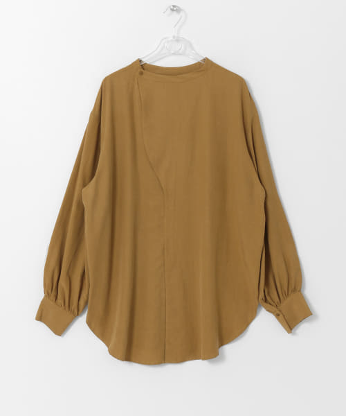 [LAATO][BAND-COLOR BLOUSE]