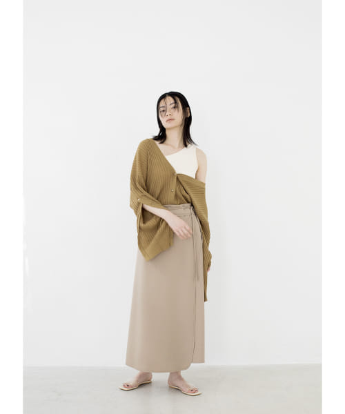 [LAATO][PIPING WRAP SKIRT]