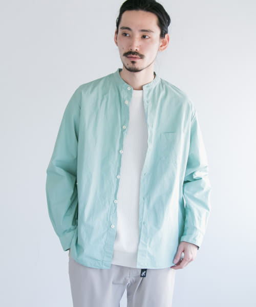 [URBAN RESEARCH][MANUAL ALPHABET L/F BAND COLLAR SHIRTS]
