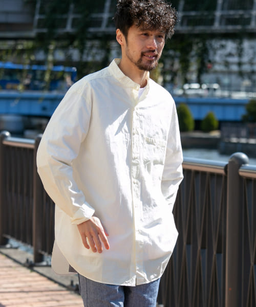 [Sonny Label][TROO ISP DEO BAND COLLAR SHIRTS]