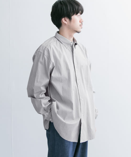 [URBAN RESEARCH][LENO BUTTON-DOWN SHIRTS]