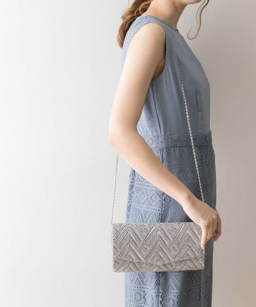 [URBAN RESEARCH][COUTURE MAISON ビーズ 柄クラッチバッグ]