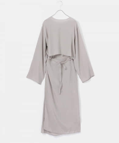 AMOMENTO WRAP DRESS