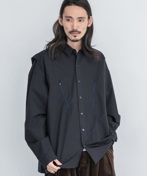 [URBAN RESEARCH][is-ness ZIP SHIRTS]