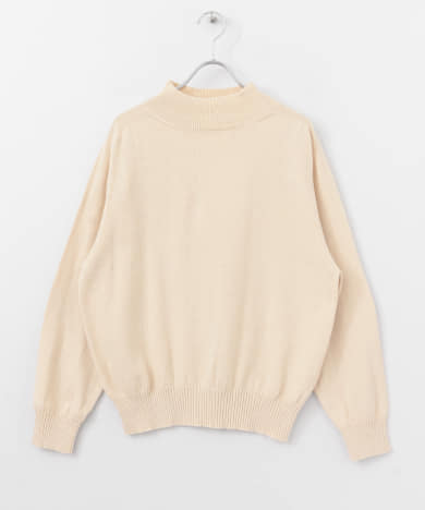 UNIFY High Neck Cotton Knit Pullover