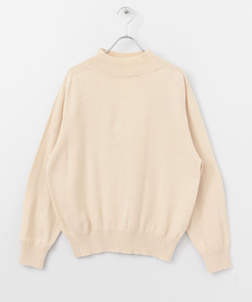 [DOORS][UNIFY High Neck Cotton Knit Pullover]