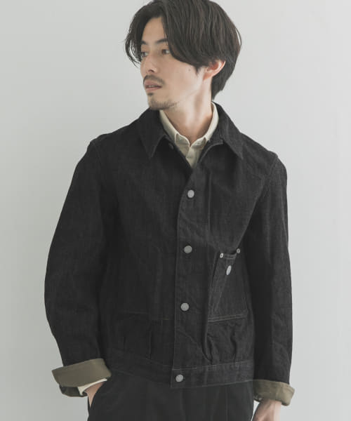 [URBAN RESEARCH][Scye Selvege Black Denim Jacket]