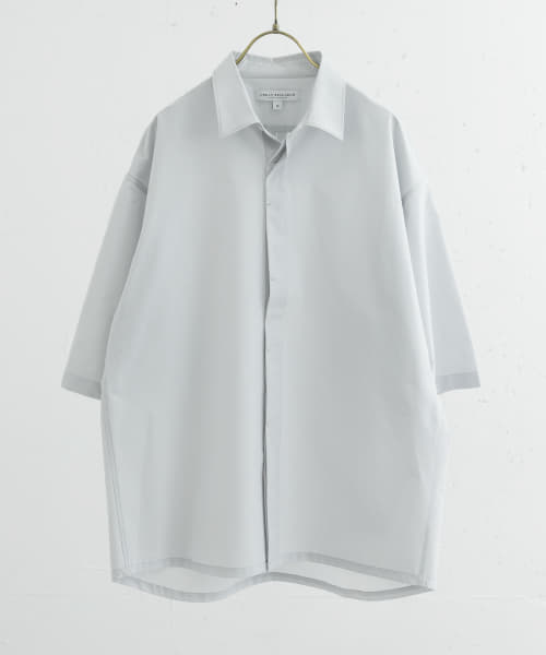 [URBAN RESEARCH][SolotexFlyfronts SHORT-SLEEVE SHIRTS]