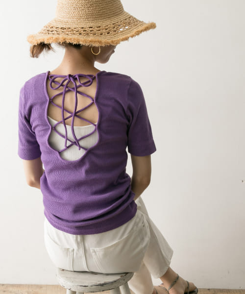 [URBAN RESEARCH][【一部店舗限定カラー】R JUBILEE Back Lace-up T-Shirts]