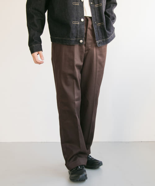 [URBAN RESEARCH][LENO WIDE CHINO TROUSERS]