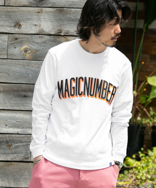 [Sonny Label][MAGIC NUMBER COLLEGE LOGO LONG-SLEEVE T-SHIRTS]