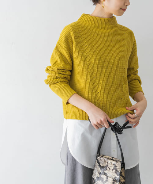 [URBAN RESEARCH][ニット×シャツレイヤードセット]
