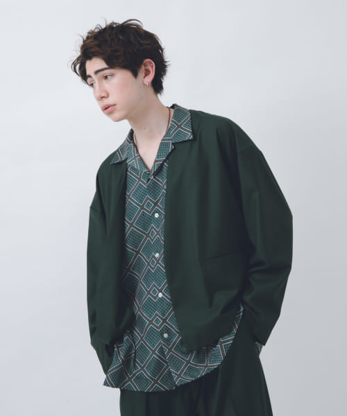 [URBAN RESEARCH][URBAN RESEARCH iD OVERSIZED NO COLLAR JKT]