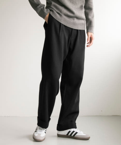 [URBAN RESEARCH][Wool tuck wide pants]