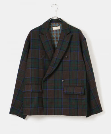 JieDa PLAID TAILORED JACKET