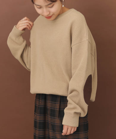 crepuscule×FORK&SPOON 別注moss stitch PULLOVER