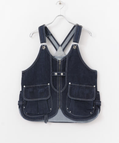 snow peak apparel Indigo TAKIBI Vest