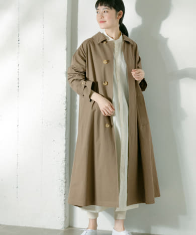 Le GLAZIK COTTON TWILL COAT