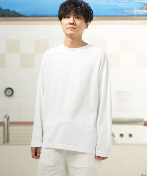 [URBAN RESEARCH][URBAN SENTO×HAAG CREW-NECK LONG-SLEEVE CUT AND SEW]