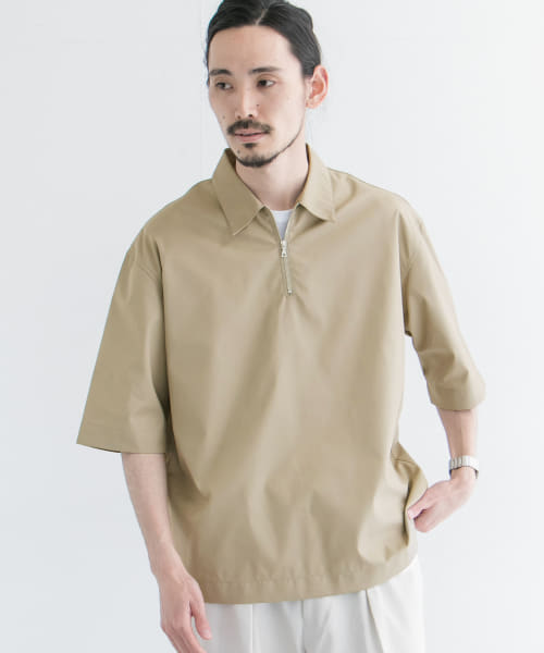 [URBAN RESEARCH][URTECHツイルハーフZIP SHIRTS T-SHIRTS]