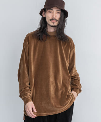 is-ness VELOER MOCKNECK LONG-SLEEVE T-SHIRTS