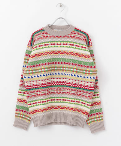LAURENCE J.SMITH FAIRISLES CN SWEATER